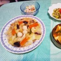 八宝菜&あんかけ厚揚げ