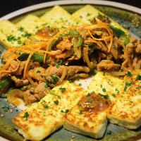 スタミナ焼きと焼き豆腐