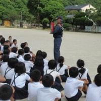 避難訓練(火災)&5年生の稲苗育て
