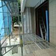 先週の工事 階段取付や左官工事など