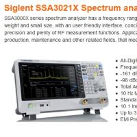 Siglent 新型スペアナ SSA3000X Series(SSA3021X/SSA3032X)