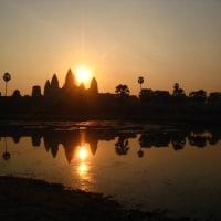 カンボジア観光年末念新初日の出