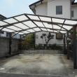 台風が持っていった車庫の屋根修理が終わった
