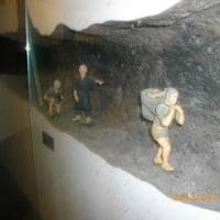 ジオラマ 掘抜の内部と作業