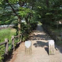 城橋から金鱗湖へ大分川沿いを・・・