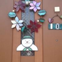 The Snowmanのステンドグラス