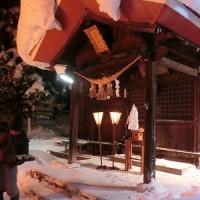 みちのくの冬2017 : 小正月の行事(さいと焼きと団子の木飾り)