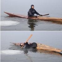 冬限定!結氷の小川原湖でカヤックで遊ぼう ~Qajaq & Floating ice~