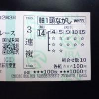 青葉賞、3連複12,090円的中!