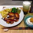最近の夕食はハモの湯引きとハモの魚卵&玉ねぎの玉子とじ、とり鉄さんの焼き鳥など