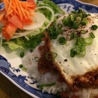 甘辛ひき肉と野菜のまぜごはん!