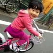 ピンクの水玉自転車