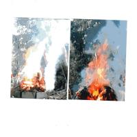 ゼロ磁場 西日本一 氣パワー 開運スポット 護摩祭りの火炎(10月9日)
