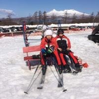 春スキーを楽しむ