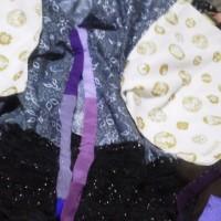 和柄の端切れと、100均のスカーフと頂き物の風呂敷で、ステージ衣装製作中(ノ´∀`*)