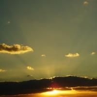 きょうの平凡な夕空