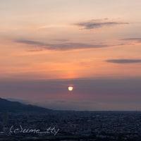 今日の札幌の夕焼け(4)淡い夕日