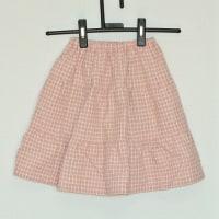 三段ティアードのスカート
