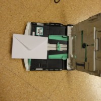 洋2封筒にインクジェットプリンターで印刷