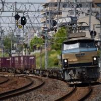 連休二日目の夙川にて EF66 33牽引の1072レを捕獲