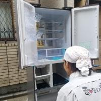 100kg超えの冷蔵庫を廻り階段を使い納品。