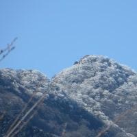 雪化粧の筑波の峰!
