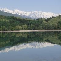 白馬三山と青木湖