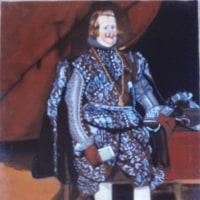 模写「茶と銀の装いのフェリペ4世」「鏡を見るヴィーナス」「青の服のマルガリータ王女」