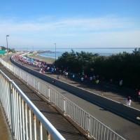 湘南国際マラソンから戻る道すがら。