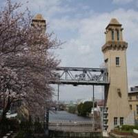松重閘門の桜
