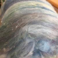 水色系の毛糸