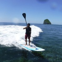 沖縄最終日は北部でSUPセット腰前後でメローな波でした。