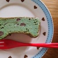 抹茶と大納言のチーズケーキ