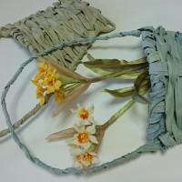 布花かご作りと色鉛筆の花2000枚