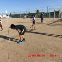 口吉川小学校の子どもたちとグランドゴルフをしました。