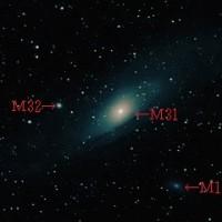 北陸の冬の晴れ間に撮影した「M31アンドロメダ銀河」@自宅前(富山県高岡市)