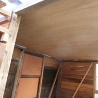 書斎(庵)作り 9 天井とドア