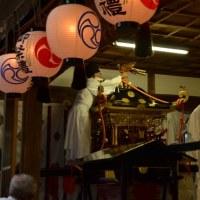 事任八幡宮例大祭 神幸祭(神輿渡御)の終了