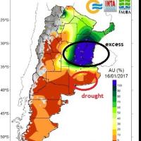 雨ばかりでなく旱魃も・・アルゼンチン