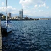 娘とダブルハンドの別府湾クルーズ、天候晴れヨットハーバー~国東半島~西大分~ヨットハーバー所要時間6時間、風8~29ノットN、波0.5m~1m時折ブローが入ってヒールが楽しいsailing。