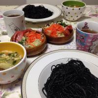 黒い晩御飯。