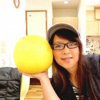 人生初の晩白柚と老眼鏡