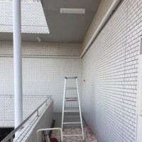 マンション廊下、共用灯交換工事