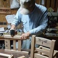 木の子ども椅子
