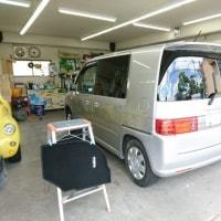 AA落札車両「モビリオ・スパイク」は仕上げ作業に着手致しました!