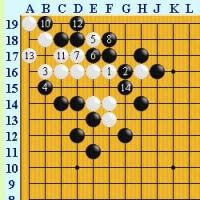 囲碁死活1526 囲碁発陽論