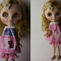くまさんと猫ちゃん・かぼちゃパンツセットのピンクです・・・