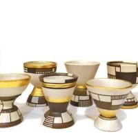Kaori Walsh Composition series 陶器の華やかな金彩グラス