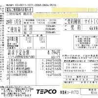 電気使用量と余剰購入電力量の精査「2017年1月分 ミニソーラー横浜青葉発電所」