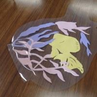 「切り絵で金魚鉢」してきました。